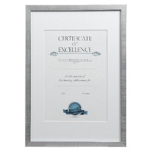 Certificate Frame A3 Value 25 Pack Brushed Silver