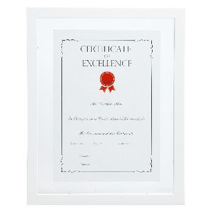 A4 Floating Certificate Frame White