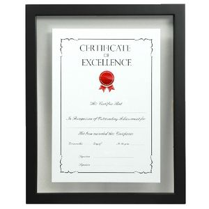 Lifestyle Brands Floating Certificate Frame A4 5 Pack Black