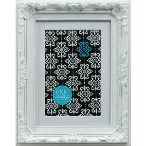 "Emporium Frame 6 x 8"" with 4 x 6"" Opening White"