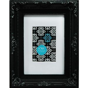 "Emporium Frame 4 x 6"" with 2 x 3"" Opening Black"