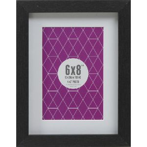 "Promenade Frame 6 x 8""  with 4 x 6"" Opening Black 5 Pack"
