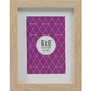 "Promenade Frame 6 x 8"" with 4 x 6"" Opening Oak 10 Pack"