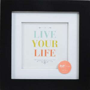 "Living Frame 8 x 8"" with 5 x 5"" Opening Black"