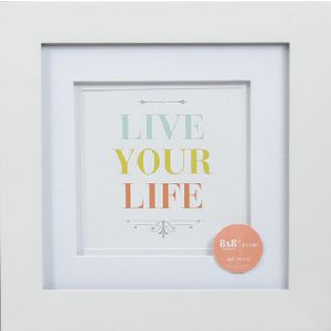 "Living Frames 8 x 8"" White 5 Pack"