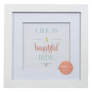 "Living Frames 12 x 12"" White 5 Pack"