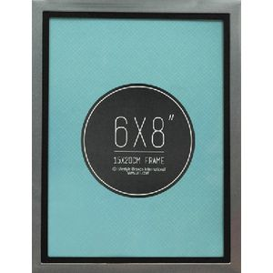 "Lifestyle Brands Metropole Frame 6 x 8"" Silver Black 5 Pack"