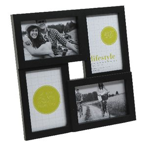 "Lifestyle Brands Frame with 4 4x6"" Openings 5 Pack Black"