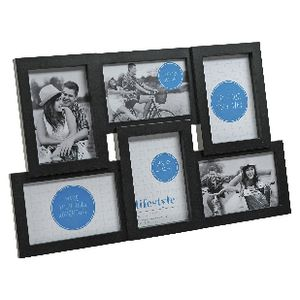 "Lifestyle Brands Gallery Frame with 6 4x6"" Openings Black"