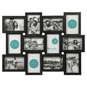 "Lifestyle Brands Gallery Frame with 12 4x6"" Openings Black"