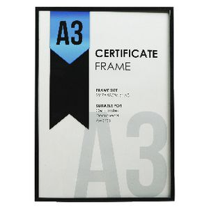 Lifestyle Brands A3 Certificate Frame Black