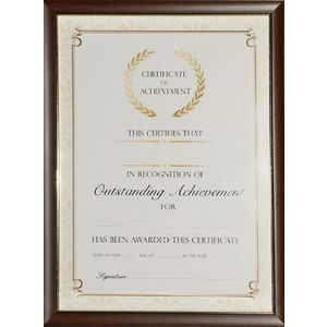 lifestyle brands a4 certificate frame timber look - Document Frames