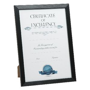 Lifestyle Brands A4 Certificate Frame Brushed Black