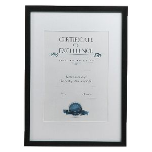 Lifestyle Brands A3 Certificate Frame Brushed Black