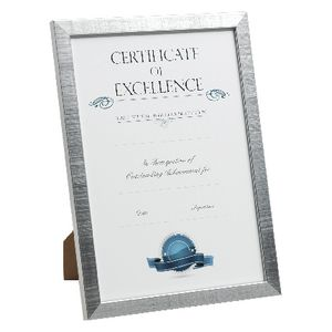 A4 Certificate Frame 5 Pack Silver