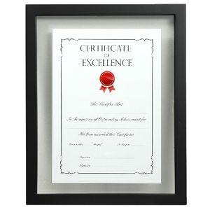 99fcab27d62b A4 Floating Certificate Frame Black