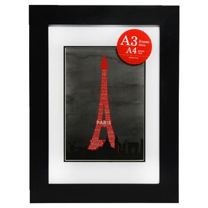 Poster Frame A3 with A4 Opening Value 5 Pack Black