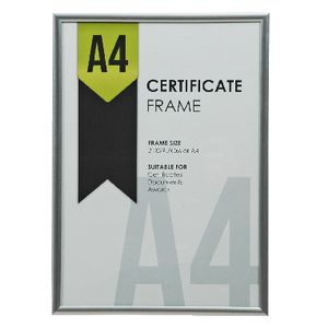 Lifestyle Brands A4 Certificate Frame Silver 100 Pack