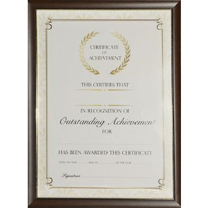 Lifestyle Brands A4 Certificate Frame Timber Look 100 Pack