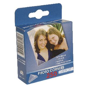 Lifestyle Brands Photo Corners Clear 250 Pack