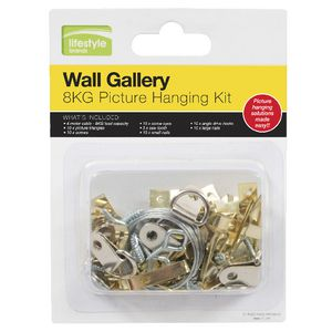 8kg Picture Hanging Kit 66 Pieces