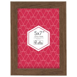 promenade frame 5 x 7 brown 5 pack