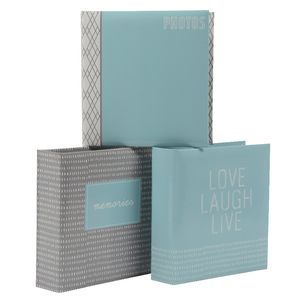 Lifestyle Brands Logan 200 Capacity Photo Album Assorted