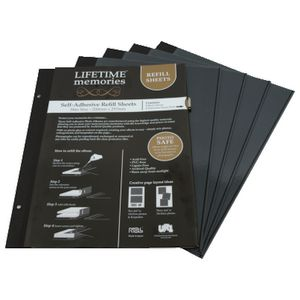 NCL A4 Self-Adhesive Photo Album Refills 5 Pack Black
