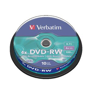 Verbatim DVD-RW 4.7GB 4x Spindle 10 Pack