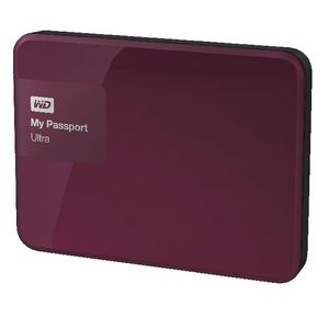 WD My Passport Ultra 1TB Portable Hard Drive Wild Berry
