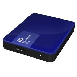 WD My Passport Ultra 2TB Portable Hard Drive Noble Blue