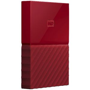 WD 2TB My Passport Portable Hard Drive Red