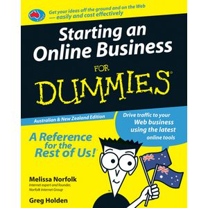 Starting An Online Business For Dummies Book