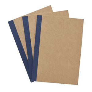 X A5 Grid Notebooks Kraft 3 Pack