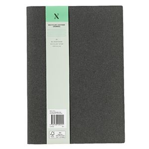 X B5 Recycled Leather Cover Journal