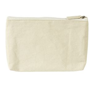 X 100% Cotton Triangle Pencil Case Beige