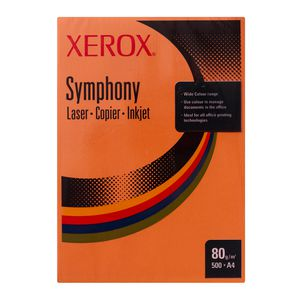 Fuji Xerox Symphony Dark Tints Copy Paper 80gsm A4 Orange