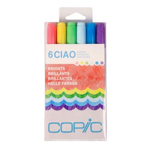 Copic Ciao Markers Brights 6 Pack