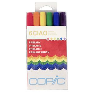 Copic Ciao Markers Primary 6 Pack