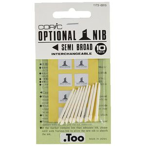 Copic Classic Marker Replacement Nib Semi Broad 10 Pack