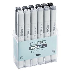 Copic Markers Cool Grey 12 Pack