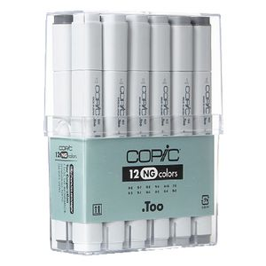 Copic Markers Neutral Grey 12 Pack