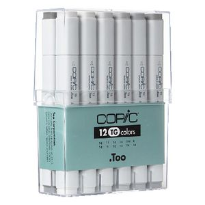 Copic Markers Toner Grey 12 Pack