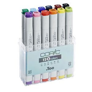 copic original dual nib marker basic colours 12 pack officeworks