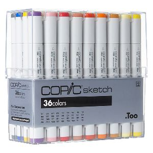 Copic Sketch Markers Assorted 36 Pack