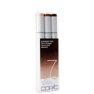 Copic Sketch Marker Blending Trio Brown