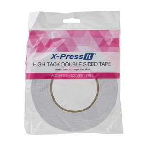 X-Press It High Tack Double Sided Tape 12mm x 50m