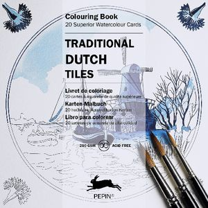 Pepin Colouring Cards Dutch Traditional Tiles