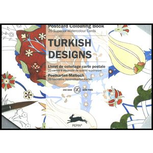Pepin Postcard Colouring Book Turkish Designs
