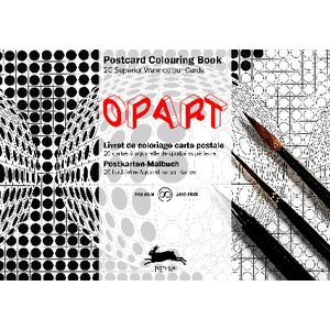 Pepin Postcard Colouring Book Op Art